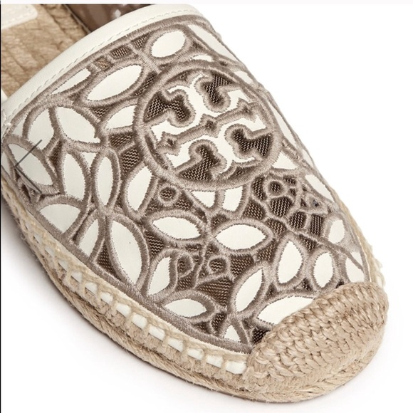 15d0b418122 Tory Burch Shoes   Rhea Embroidered Espadrilles Lace 65   Poshmark
